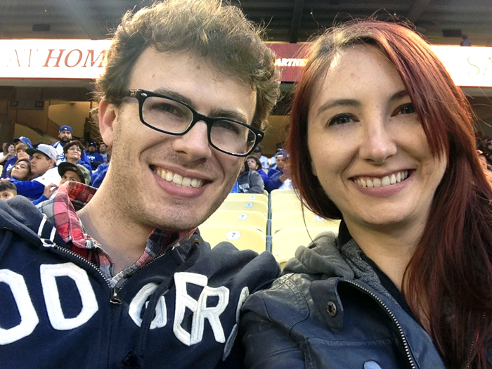 Peter and Emily at Dodger Stadium