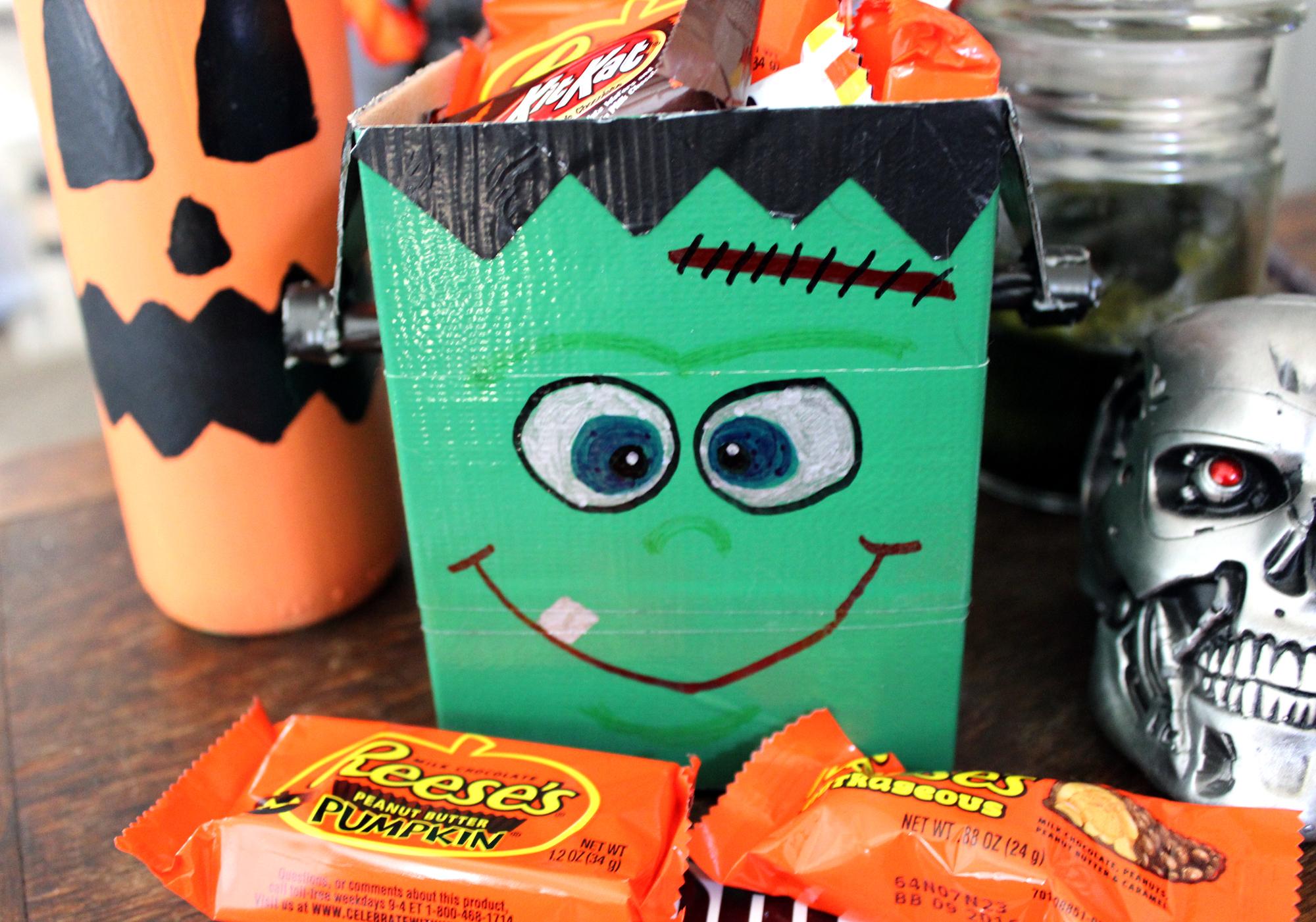 Halloween DIY — Frankenstein's Monster Candy Box
